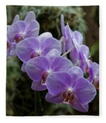 Orchids Square Format Img 5437 Fleece Blanket