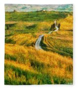 Orcia Valley Fleece Blanket