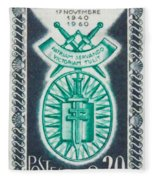 Order Of The 20th Anniversary Release 17 November 1940 To 1960 Patriam Servando Victoriam Tulit Fleece Blanket