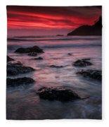Oregon Afterglow Fleece Blanket