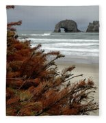 Oregon Beach Fleece Blanket