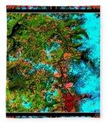 Oregon Cascades Nasa Satellite Fleece Blanket
