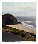 Oregon Coast And Fog Fleece Blanket
