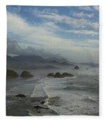 Oregon Coast Ecola 1 F Fleece Blanket