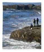 Oregon Coast Fishermen Fleece Blanket