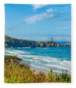 Oregon Coast Lighthouse Fleece Blanket