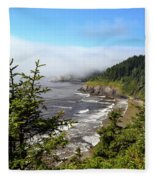 Oregon Coastline Fleece Blanket
