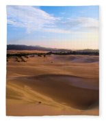 Oregon Dunes Landscape Fleece Blanket