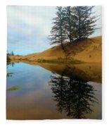 Oregon Dunes Pond Fleece Blanket