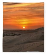Oregon Dunes Sunset Fleece Blanket