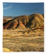 Oregon Painted Landscape Fleece Blanket