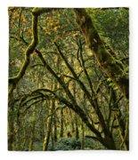 Oregon Rainforest Green Fleece Blanket