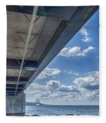Oresundsbron Hdr Fleece Blanket