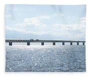Oresundsbron Panorama 01 Fleece Blanket