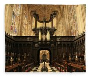 Organ And Choir - King's College Chapel Fleece Blanket
