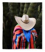 Organ Pipe Cactus The Visitor 2 Fleece Blanket
