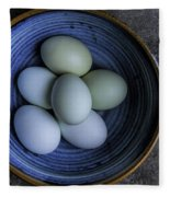 Organic Blue Eggs Fleece Blanket