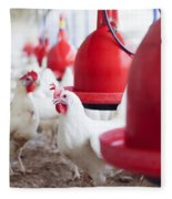 Organic Chicken Coop  Fleece Blanket