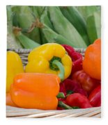 Organic Sweet Bell Peppers Fleece Blanket