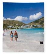 Orient Beach In St Martin Fwi Fleece Blanket