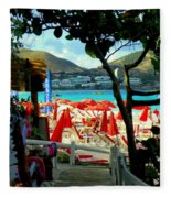 Orient Beach Peek Fleece Blanket