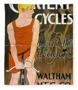 Orient Cycles Vintage Bicycle Poster Fleece Blanket