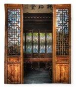 Orient - Door - The Temple Doors Fleece Blanket