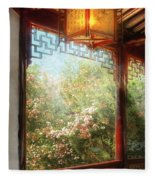 Orient - Lamp - Simply Chinese Fleece Blanket