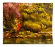 Orient - The Japanese Garden Fleece Blanket