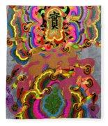 Oriental Leaf Fleece Blanket
