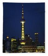 Oriental Pearl Tower, Shanghai Fleece Blanket
