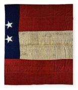 Original Stars And Bars Confederate Civil War Flag Fleece Blanket