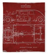 Original Harleigh Holmes Automobile Patent 1932 Fleece Blanket