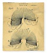 Original Slinky Toy Patent Fleece Blanket