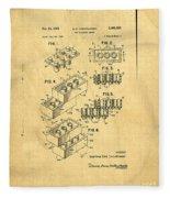 Original Us Patent For Lego Fleece Blanket