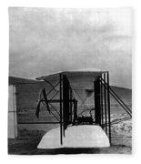 Original Wright Airplane, 1903 Fleece Blanket