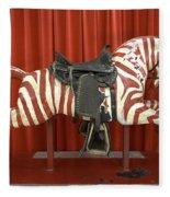 Original Zebra Carousel Ride Fleece Blanket