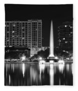 Orlando Black And White Night Fleece Blanket