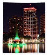 Orlando Panorama Fleece Blanket