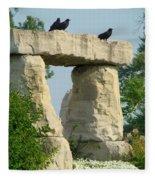 Ornamental Crows Fleece Blanket