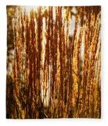 Ornamental Golden Grass Fleece Blanket