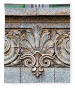 Ornamental Scrollwork Panel - Architectural Detail Fleece Blanket