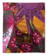 Ornamented Stars Fleece Blanket