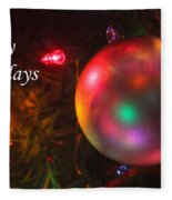 Ornaments-1942-happyholidays Fleece Blanket
