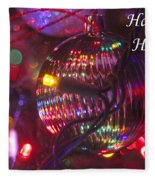 Ornaments-2038-happyholidays Fleece Blanket