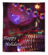Ornaments-2054-happyholidays Fleece Blanket