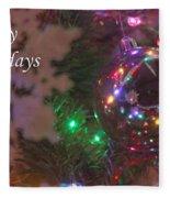 Ornaments-2096-happyholidays Fleece Blanket