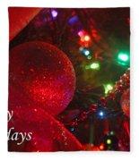 Ornaments-2107-happyholidays Fleece Blanket