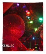 Ornaments-2107-merrychristmas Fleece Blanket