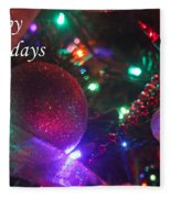Ornaments-2130-happyholidays Fleece Blanket